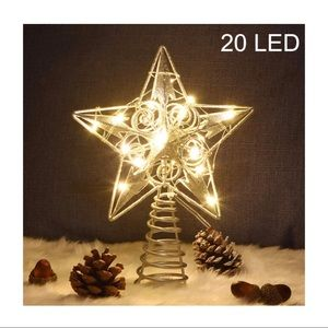 """20 LED 9"""" Christmas Tree Topper $FIRM$"""